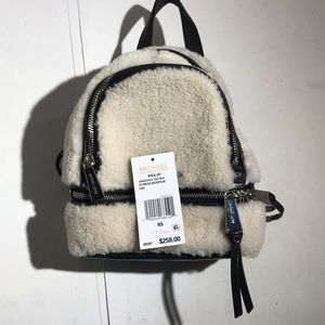 Michael Kors Shearling Leather Backpack